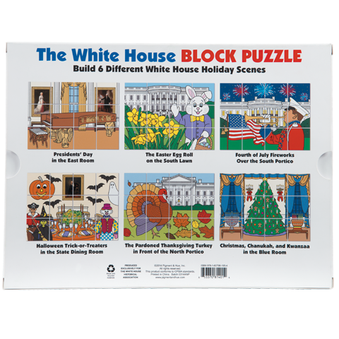 White House Holiday Block Puzzle-Back of Box