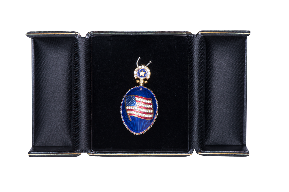 Presidential Cobalt Blue Egg Pendant-In Box
