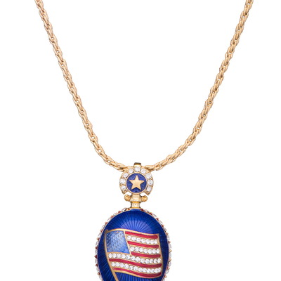 Presidential Cobalt Blue Egg Pendant-On Necklace Chain
