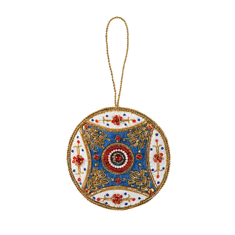 Blue Room Multicolor Felt Ornament-Front