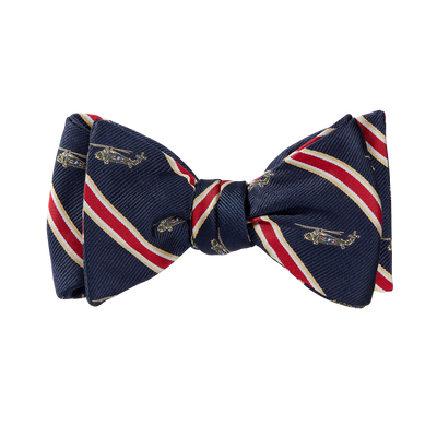 Navy Helicopter Bow Tie-tied