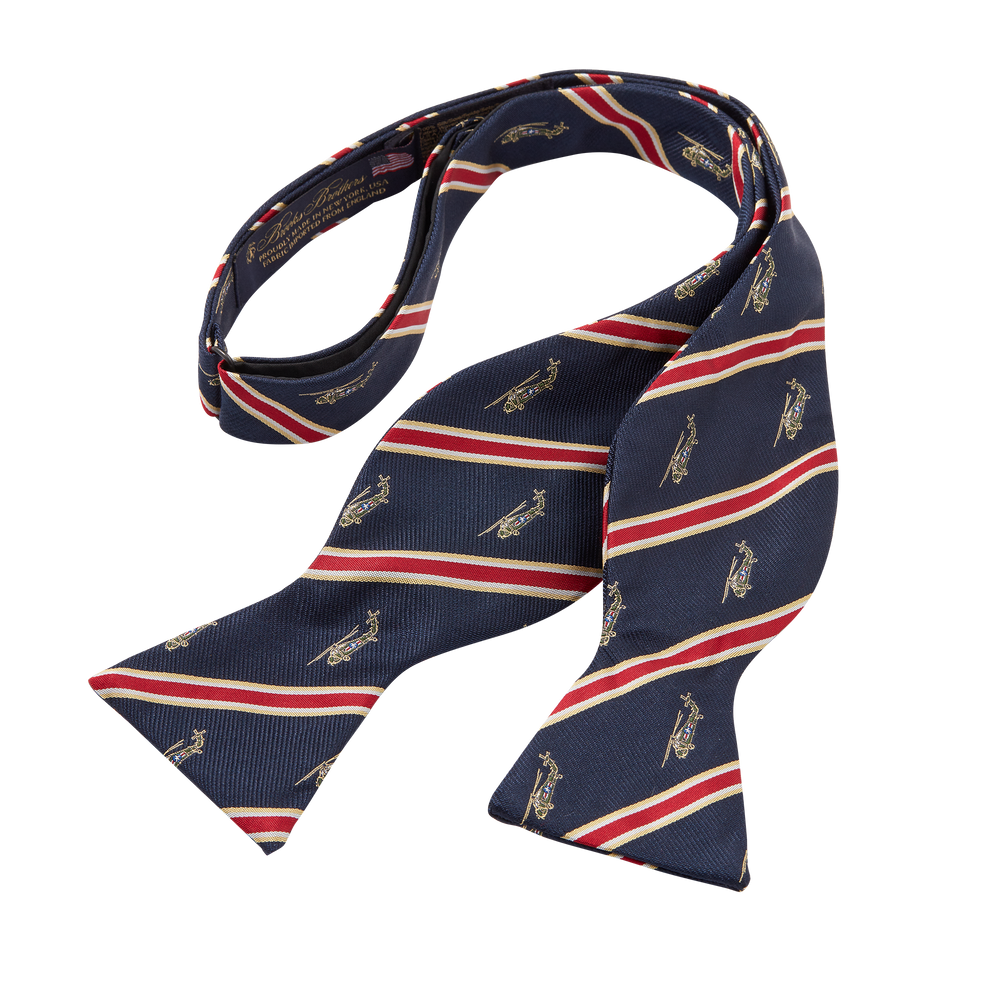 Navy Helicopter Bow Tie-untied