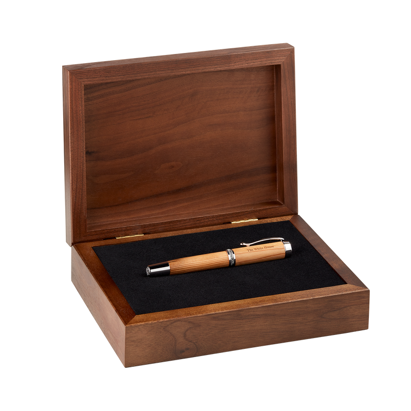 Handcrafted Wooden Rollerball Pen from Truman Renovation