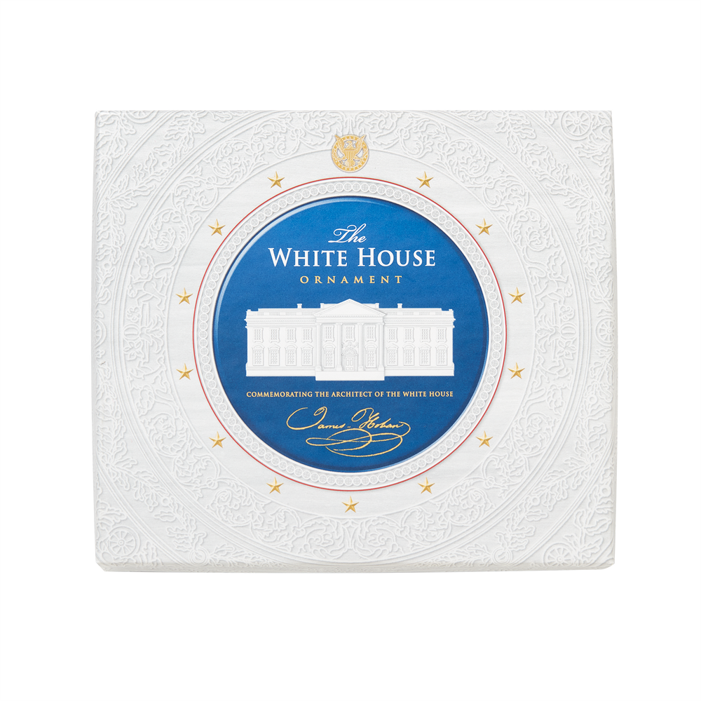 Commemorative Ornament, Honoring James Hoban, White House Architect-Box with Lid