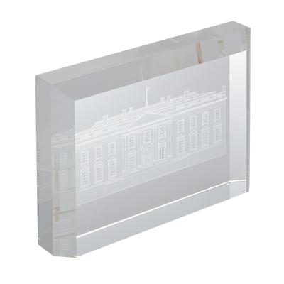 Signed White House Crystal Sculpture-Side View