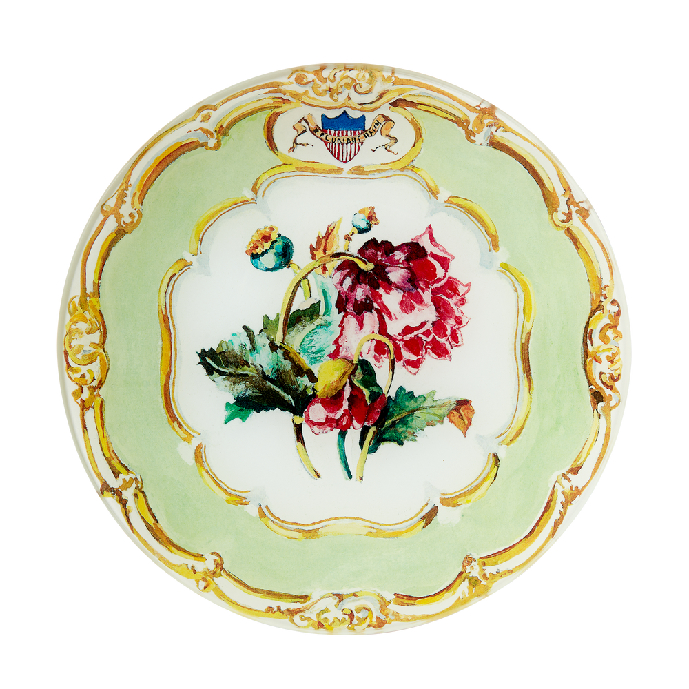 Small Decoupage Polk State Service Plate