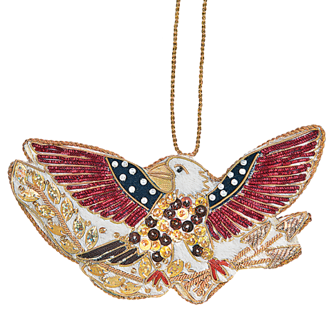 American Bald Eagle Ornament-Front