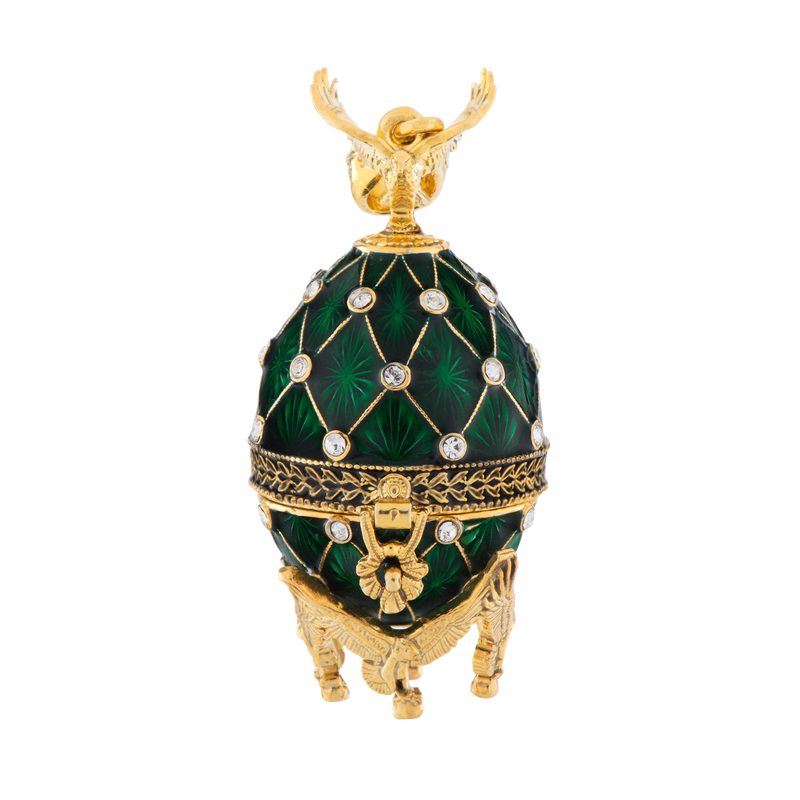 Emerald White House Egg Pendant
