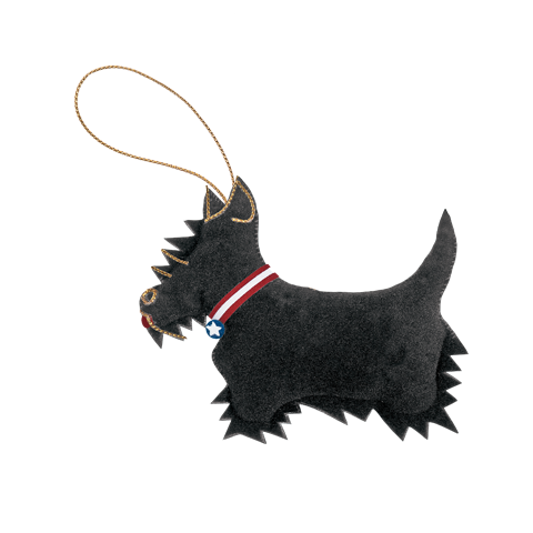 President Franklin D Roosevelt's pet scottish terrier, Fala ornament front