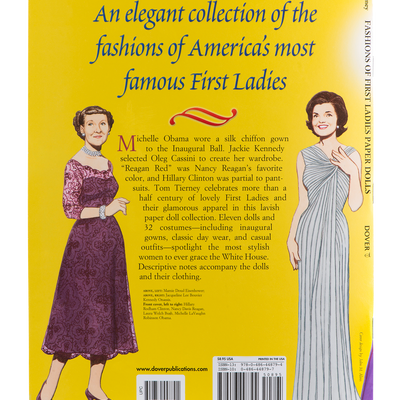 Fashions of the First Ladies Paper Dolls-Back Cover