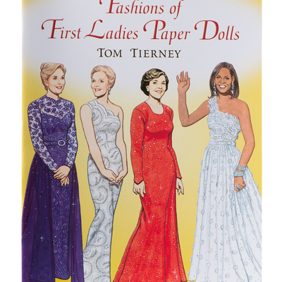Fashions of the First Ladies Paper Dolls-Front Cover
