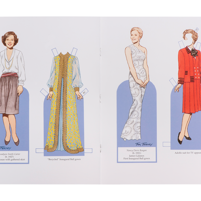 Fashions of the First Ladies Paper Dolls-Open Page