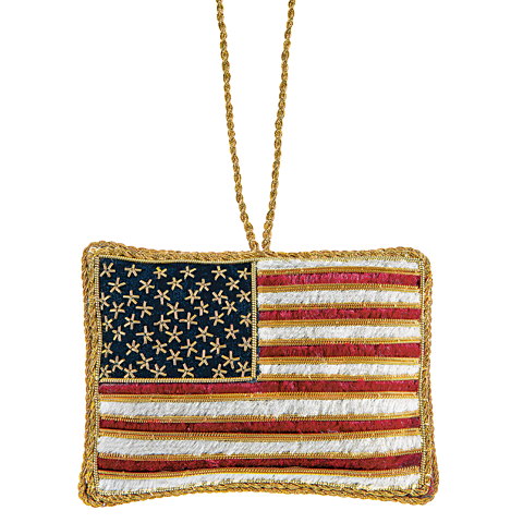 United States Flag Ornament-Front