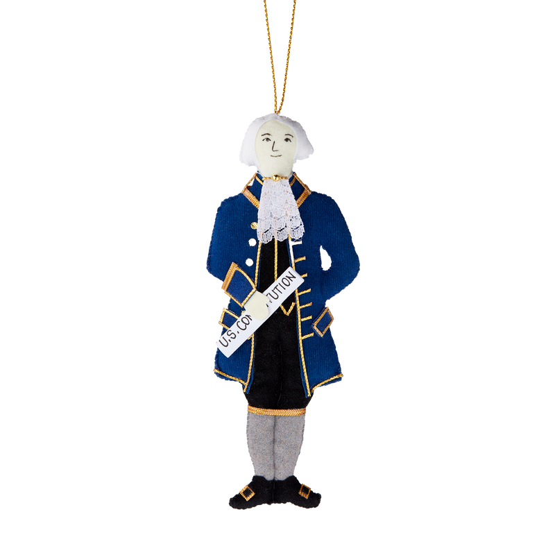 James Madison Ornament-Front