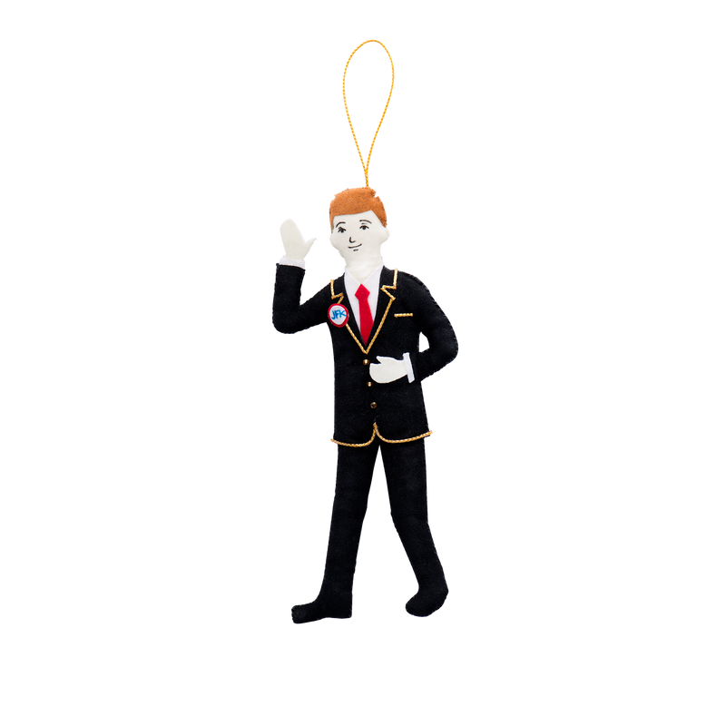 John F. Kennedy Ornament-Front