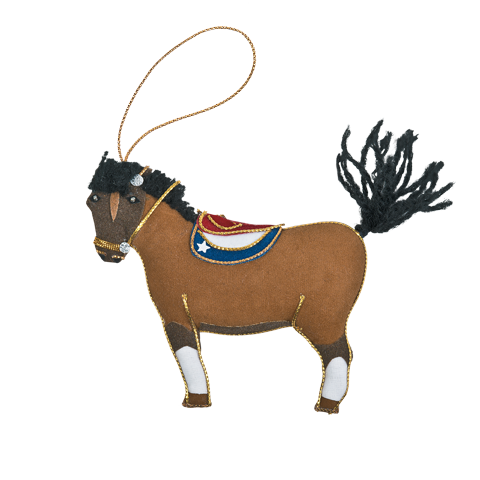 Caroline Kennedy's pet pony, Macaroni ornament front