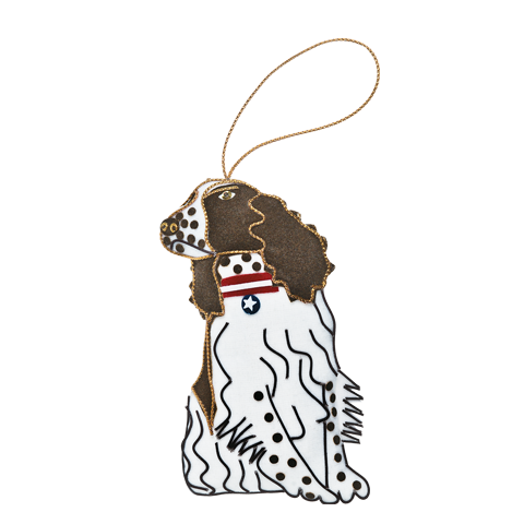 Millie the Springer Spaniel Ornament front