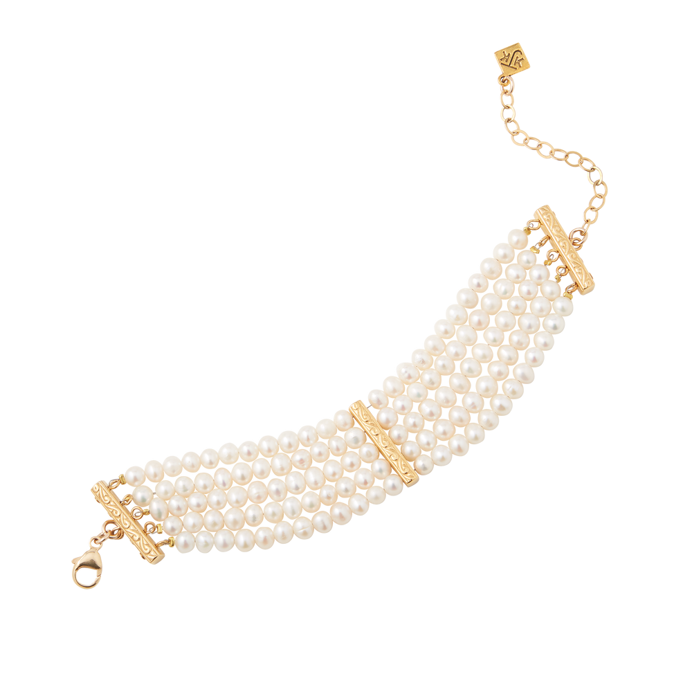 Five Strand Cultured Pearl Bracelet