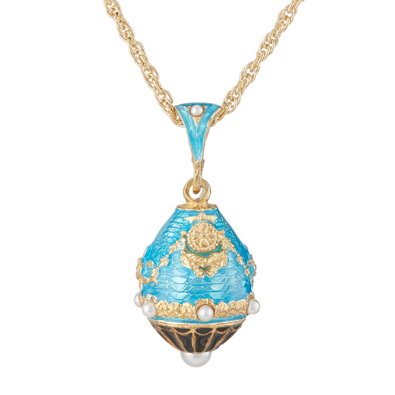 Aqua North Portico Egg Pendant