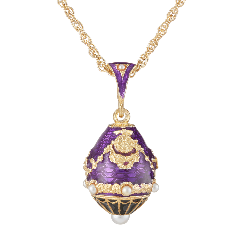 Purple North Portico Egg Pendant