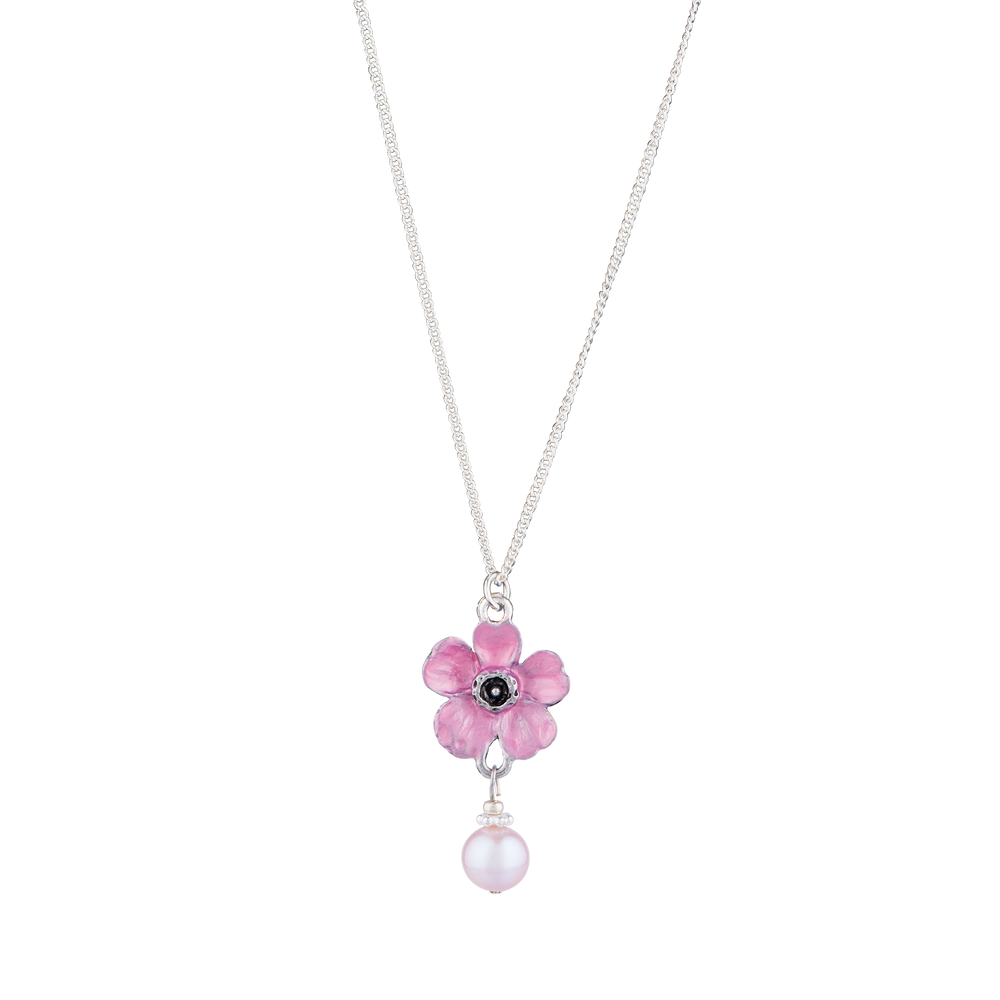 Cherry Blossom Necklace with Pearl