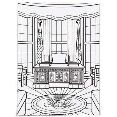 oval office postcard to color
