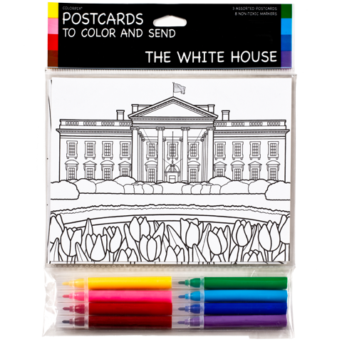 postcards to color pack