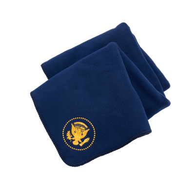 Navy Truman Seal Fleece Blanket