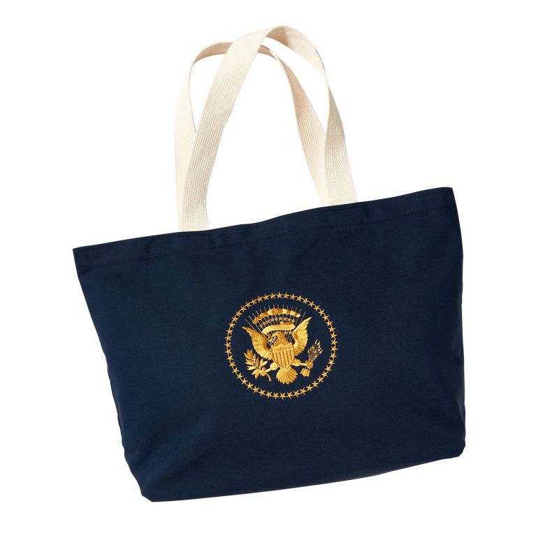 Navy Truman Seal Tote Bag-Front