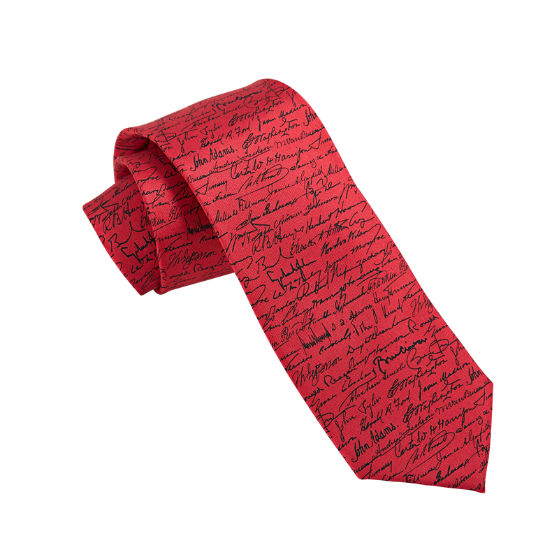 President's Signature Tie -Red