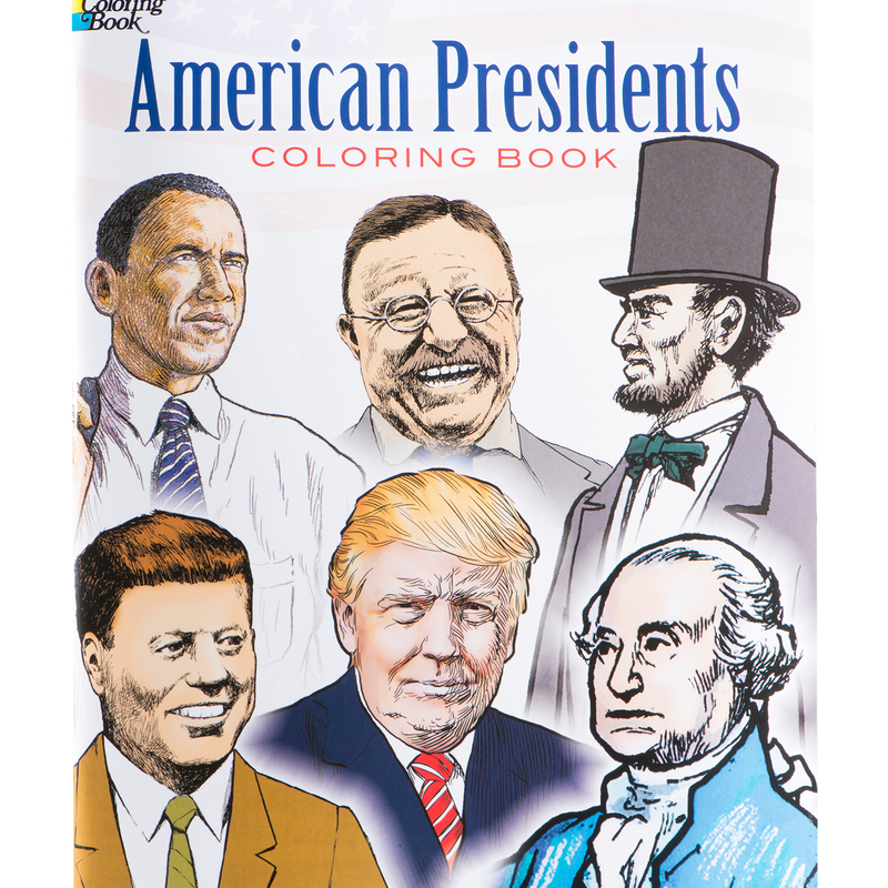 American Presidents Coloring Book-Front Cover