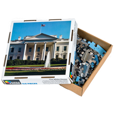 White House Round Puzzle-Front of Box