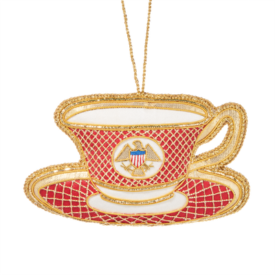 Reagan China Teacup Ornament