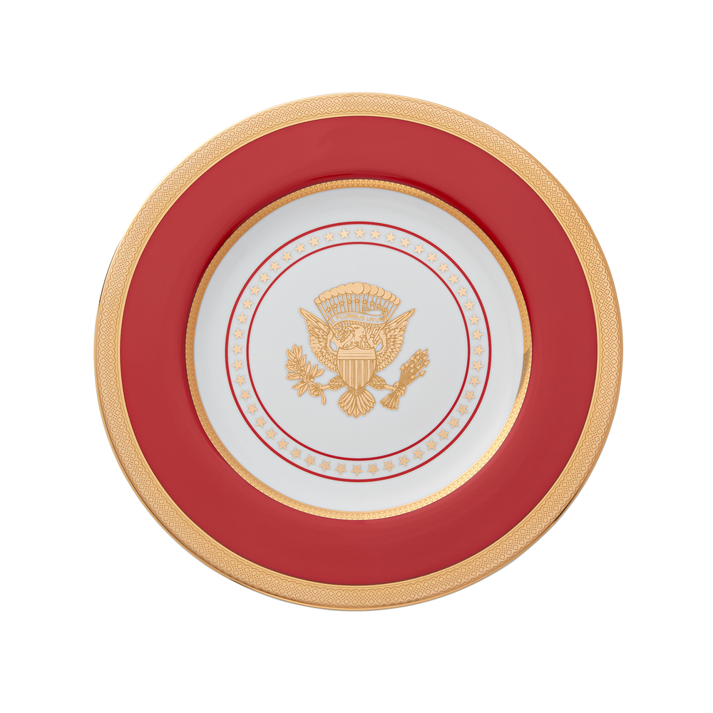Large Red and Gold Truman Seal Plate