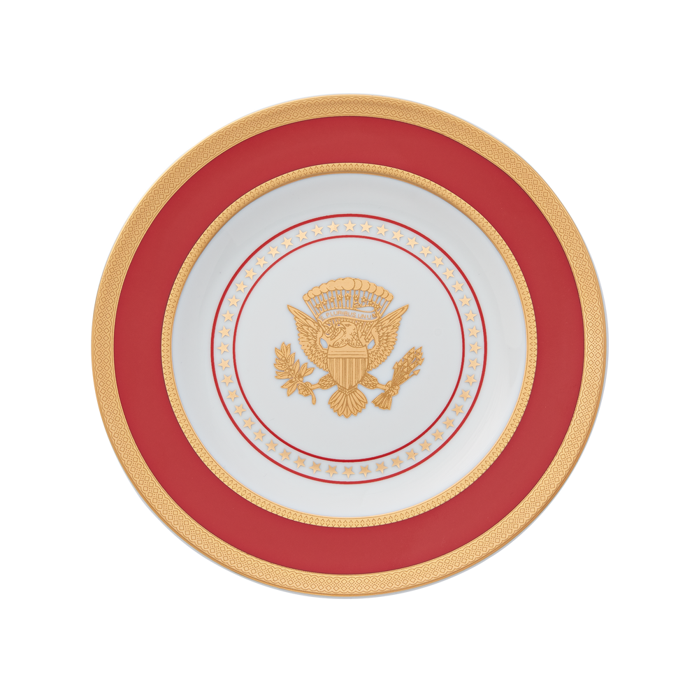 Small Red and Gold Truman Seal Plate