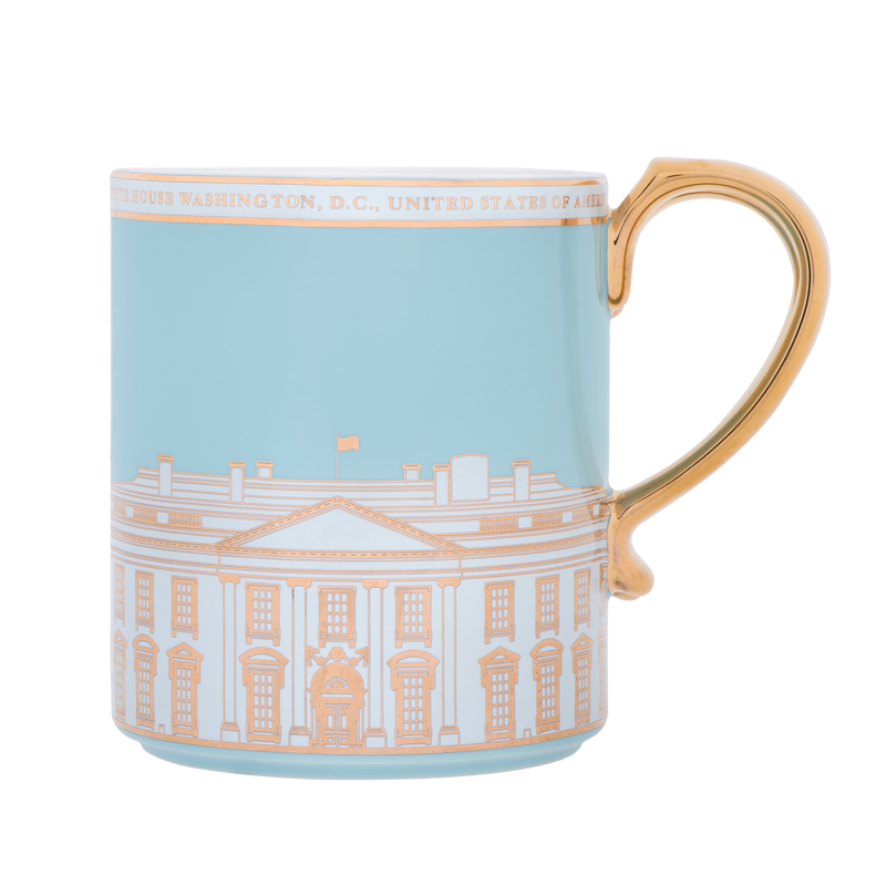 Light Blue White House Mug