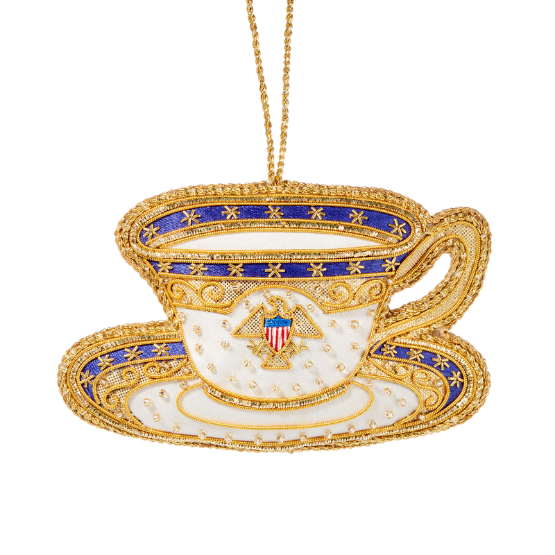 Roosevelt China Teacup Ornament-Front