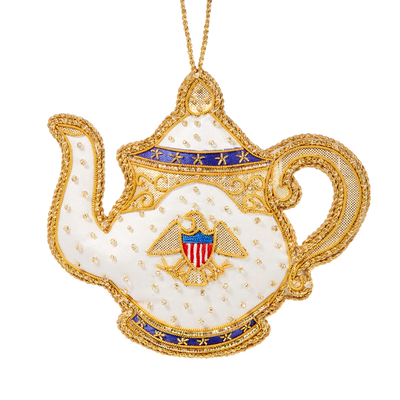 Roosevelt China Teapot Ornament-Front