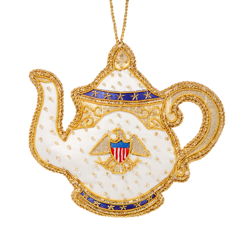Roosevelt China Teapot Ornament