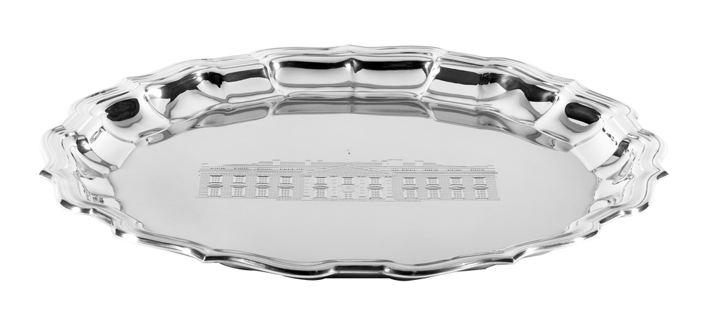 Salisbury White House Chippendale Tray-Side