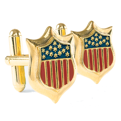 Union Shield Gold Cuff Links