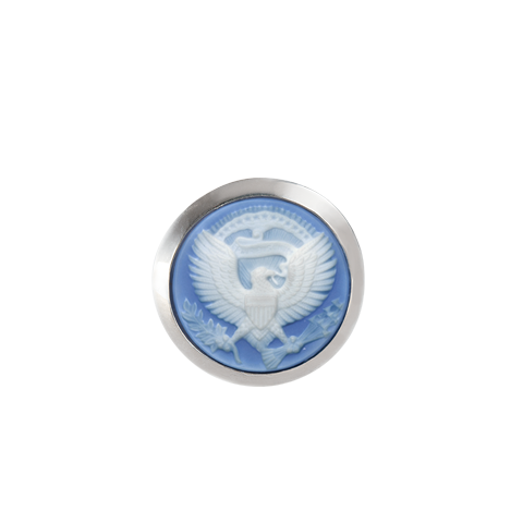 resolute eagle cameo tie tack
