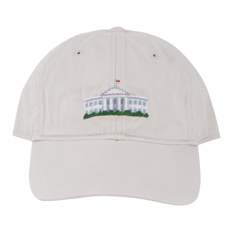 Smathers & Branson Stone Needlepoint White House Hat
