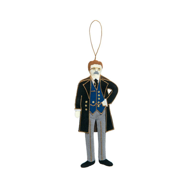 Teddy Roosevelt Ornament-Front