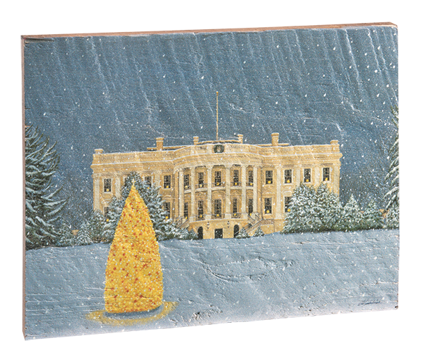 South View of the White House, Christmas by Bob Timberlake-Front