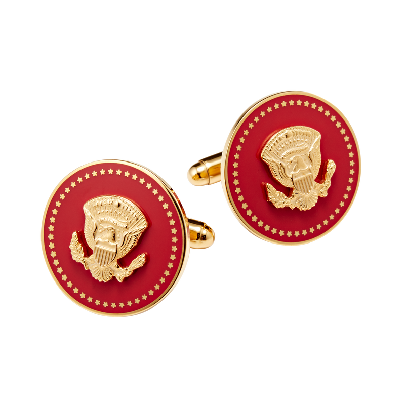 Red and Gold Truman Seal Cuff Links