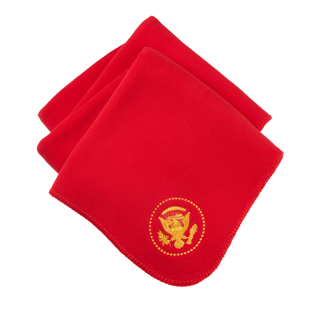 Red Truman Seal Fleece Blanket