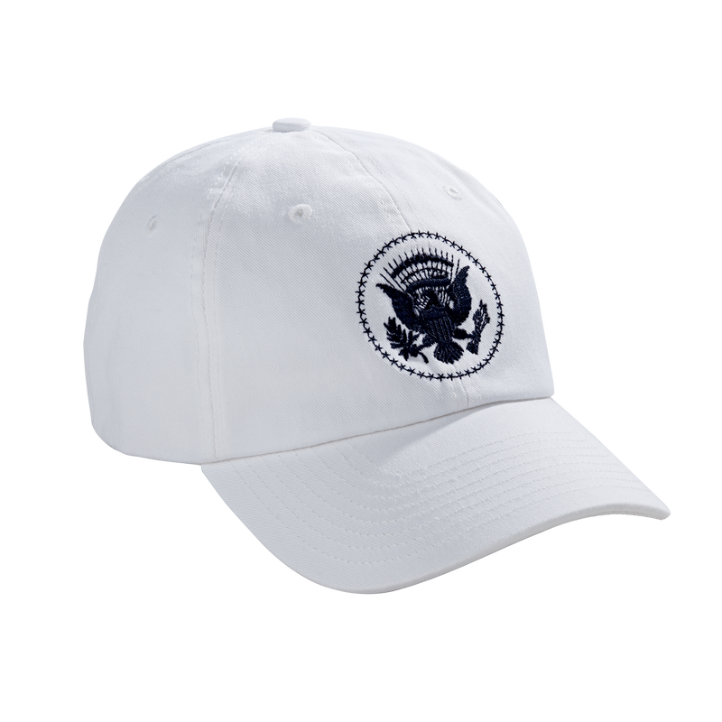 White Truman Seal Hat-Front