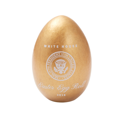 Official 2018 Gold White House Easter Egg