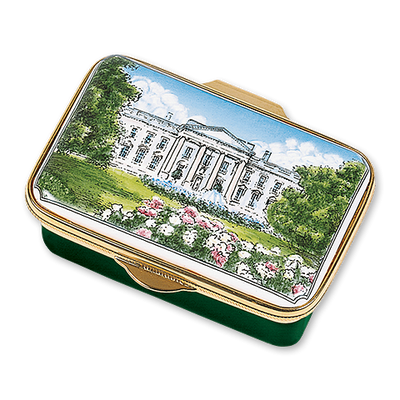 White House 1914 Enamel Box-Closed